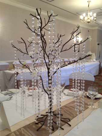 Wedding table accessories heavenly heavenley chair cover hire centrepiece junglespirit Images